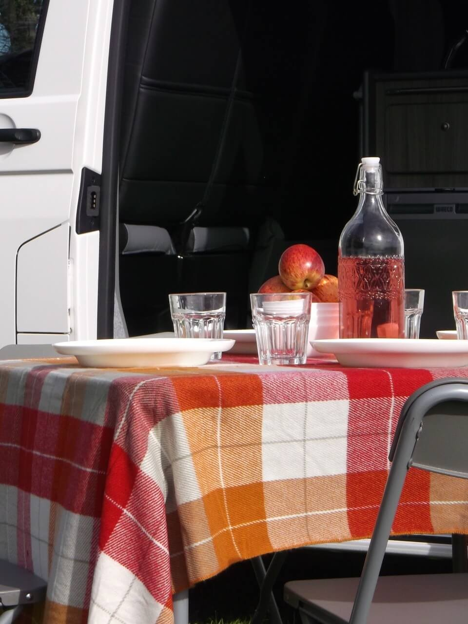 Picnic table campervan scotland
