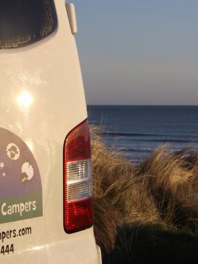 Back of campervan hire