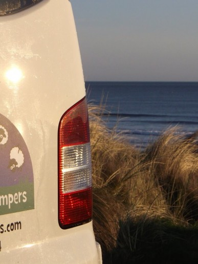 Back of van logo campervan hire