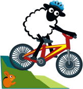 Counting Sheep Campers sheep biking icon
