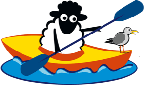 Counting Sheep Campers sheep canoeing icon