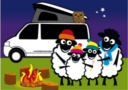 Counting Sheep Campers sheep family icon