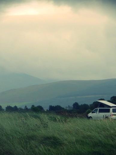 Van in Scottish location