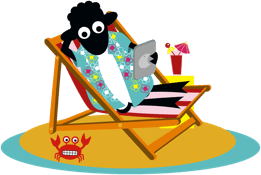 Counting Sheep Campers sheep relaxing icon
