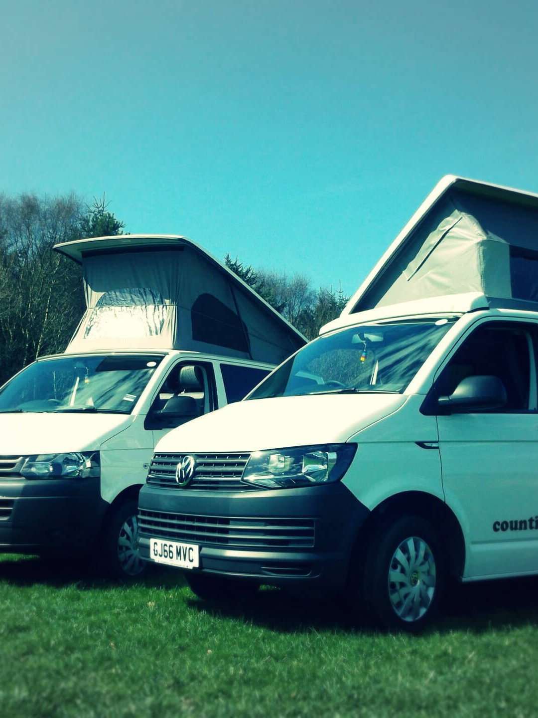 sandy and pebbles in field campervans rent