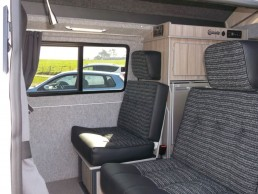 travelling seats sandy camper van hire