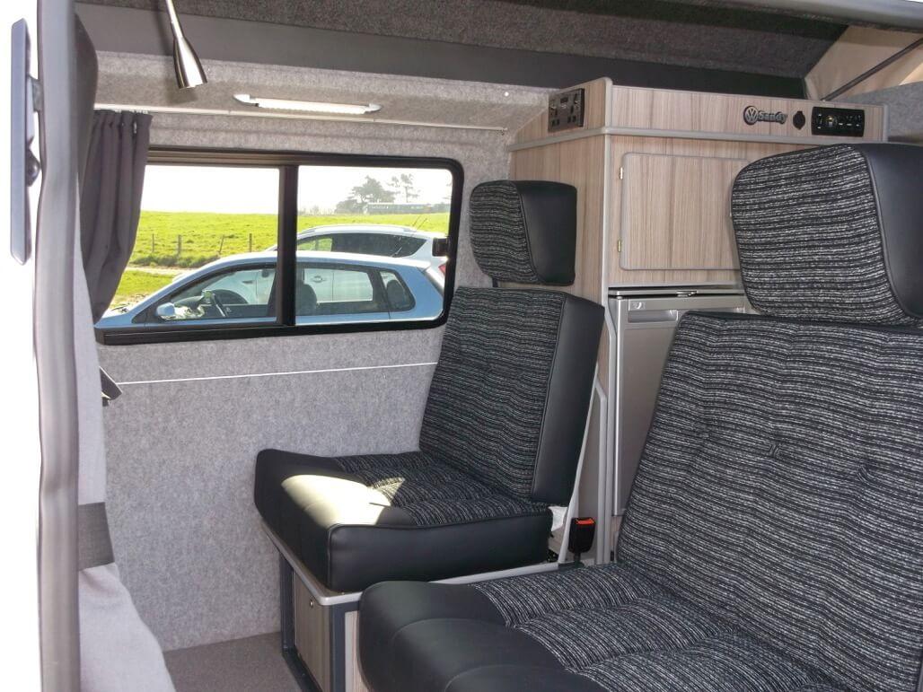 travelling seats sandy camper van hire