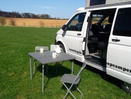 side view sandy camper van hire