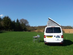roof open sandy camper van hire