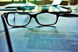 reading glasses on contract