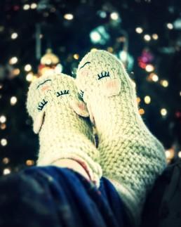 relaxing in socks