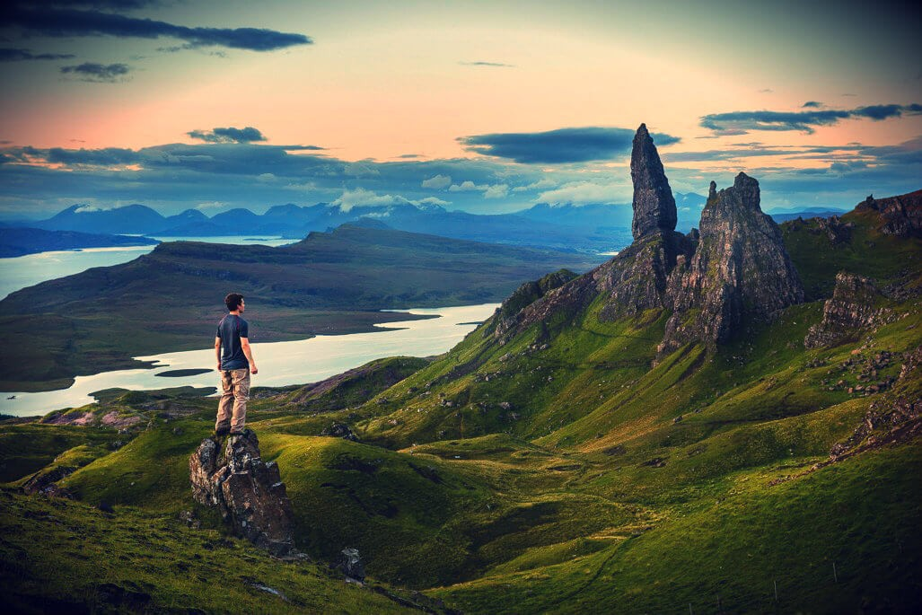 view over island skye