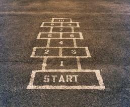 start finish of childrens game