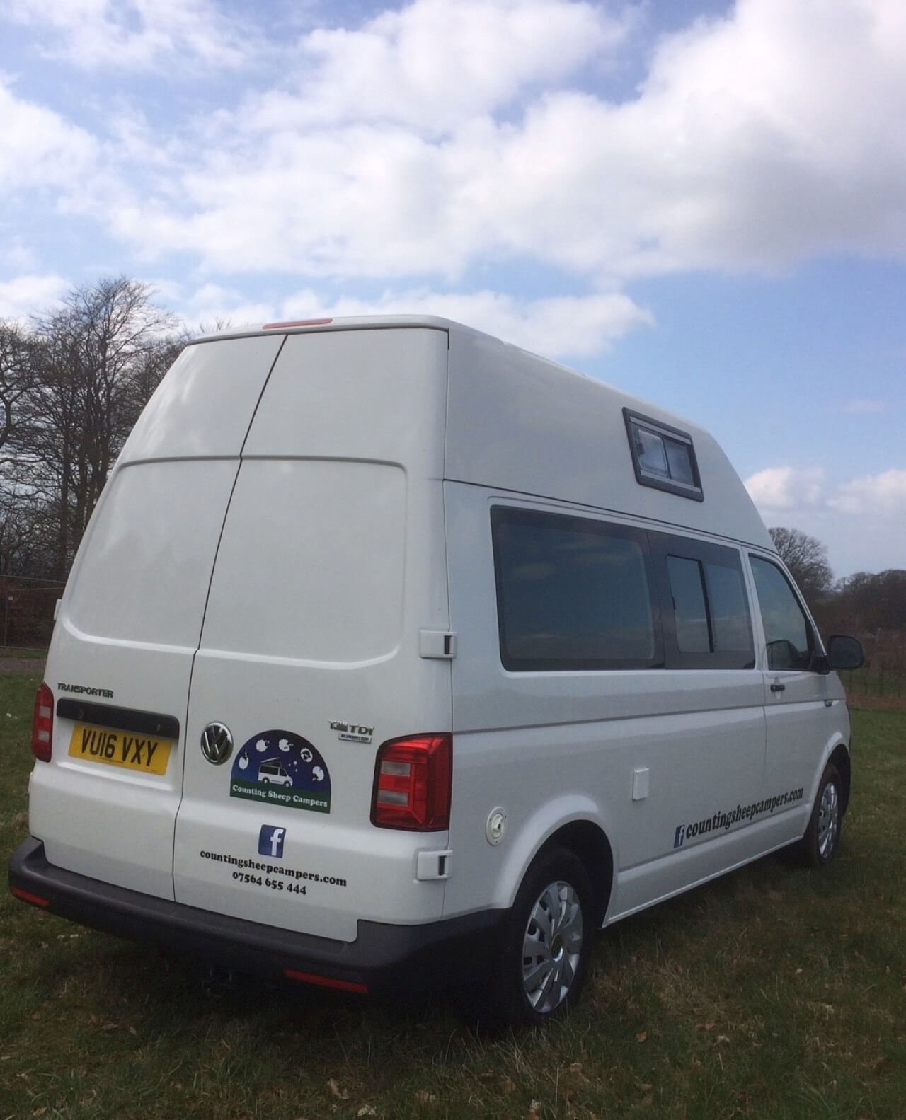 rear view skye motorhome hire