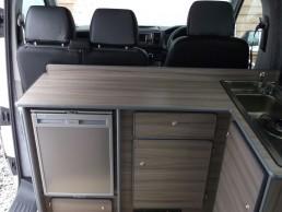 view of fridge skye motorhome rent