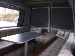 table in lounge skye motorhome