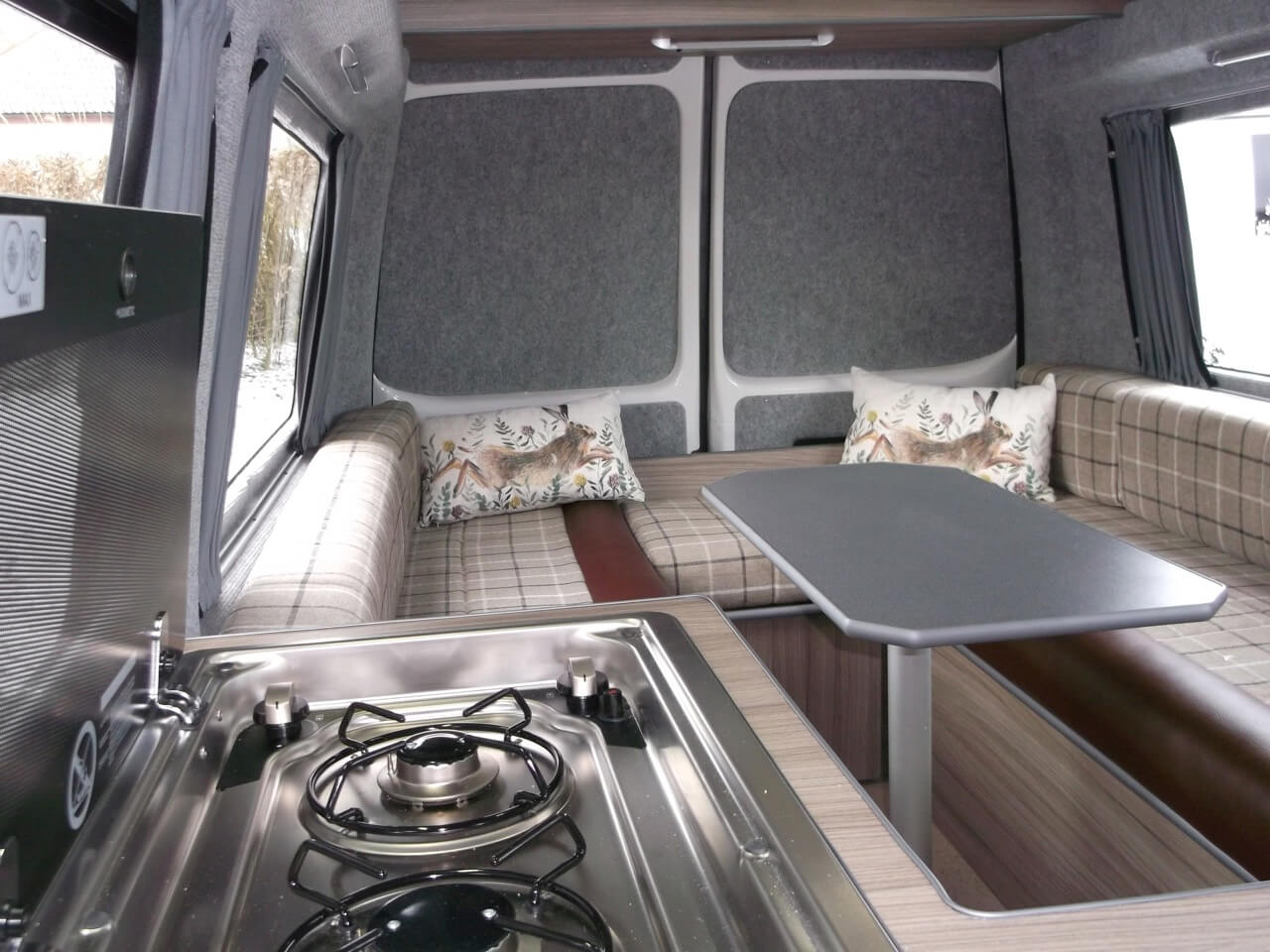 table in kitchen skye motorhome hire
