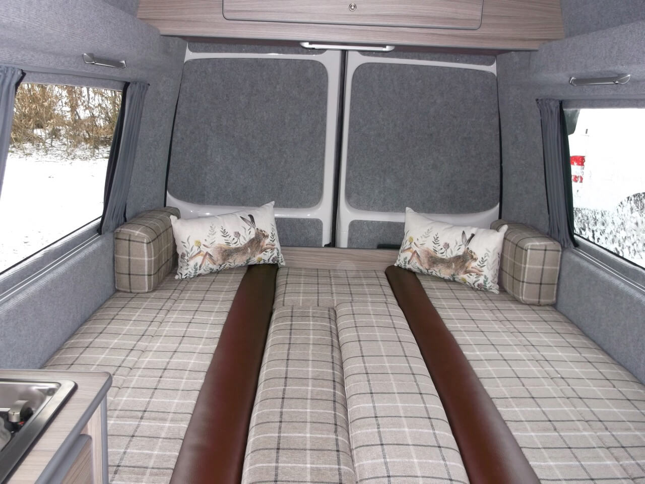 double bed made up skye motorhome hire
