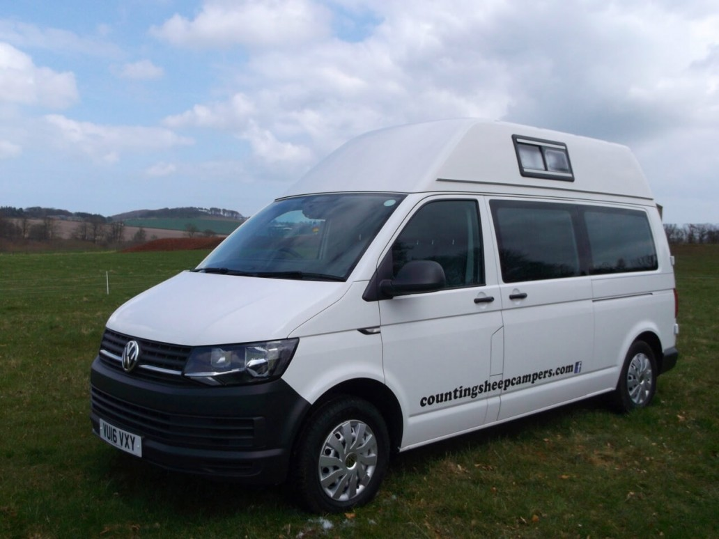 front view skye motorhome hire
