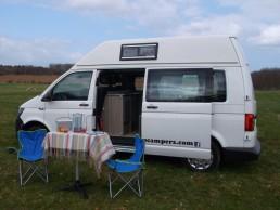 table chairs skye campervan hire