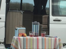 side view picnic skye campervan hire