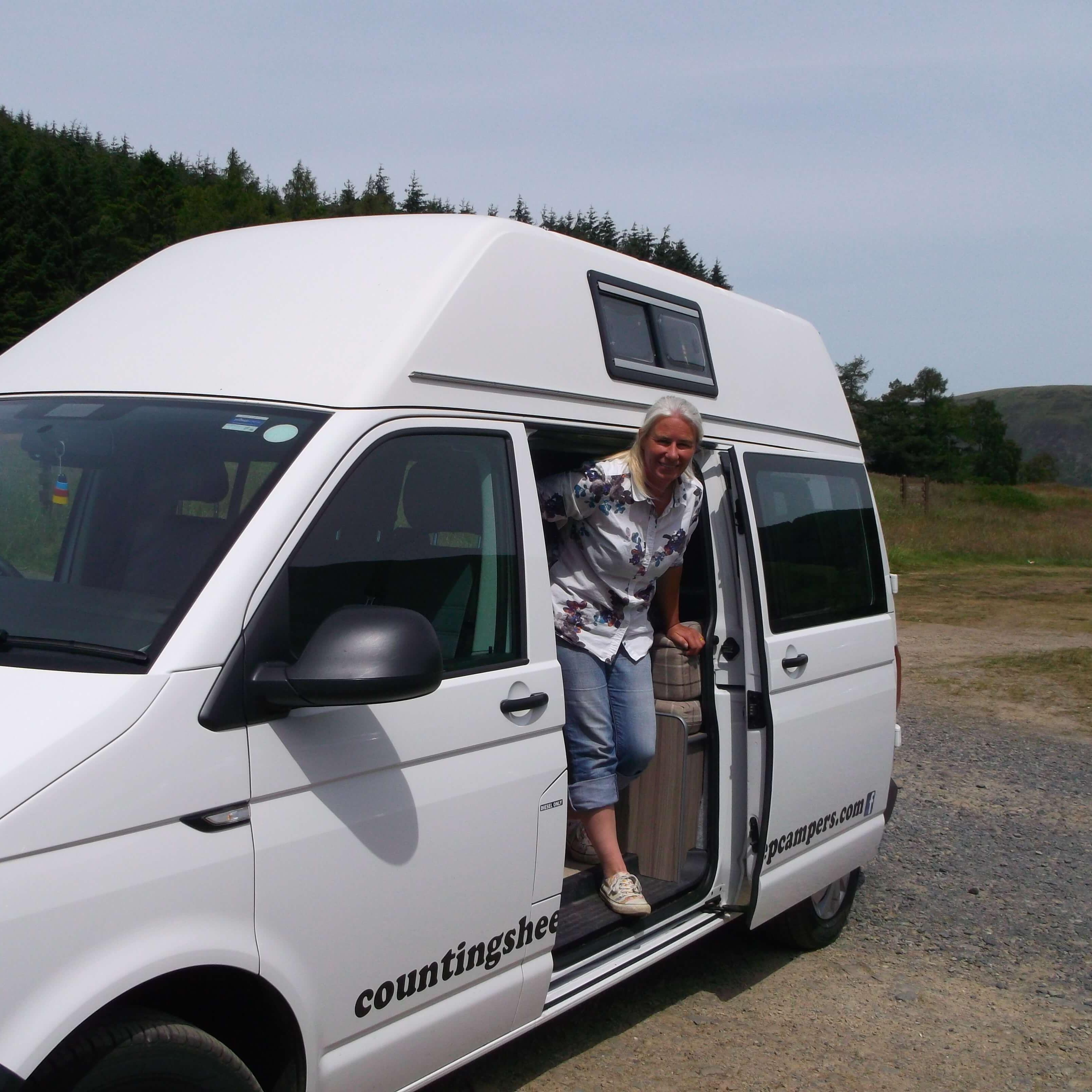 campervan at st marys loch