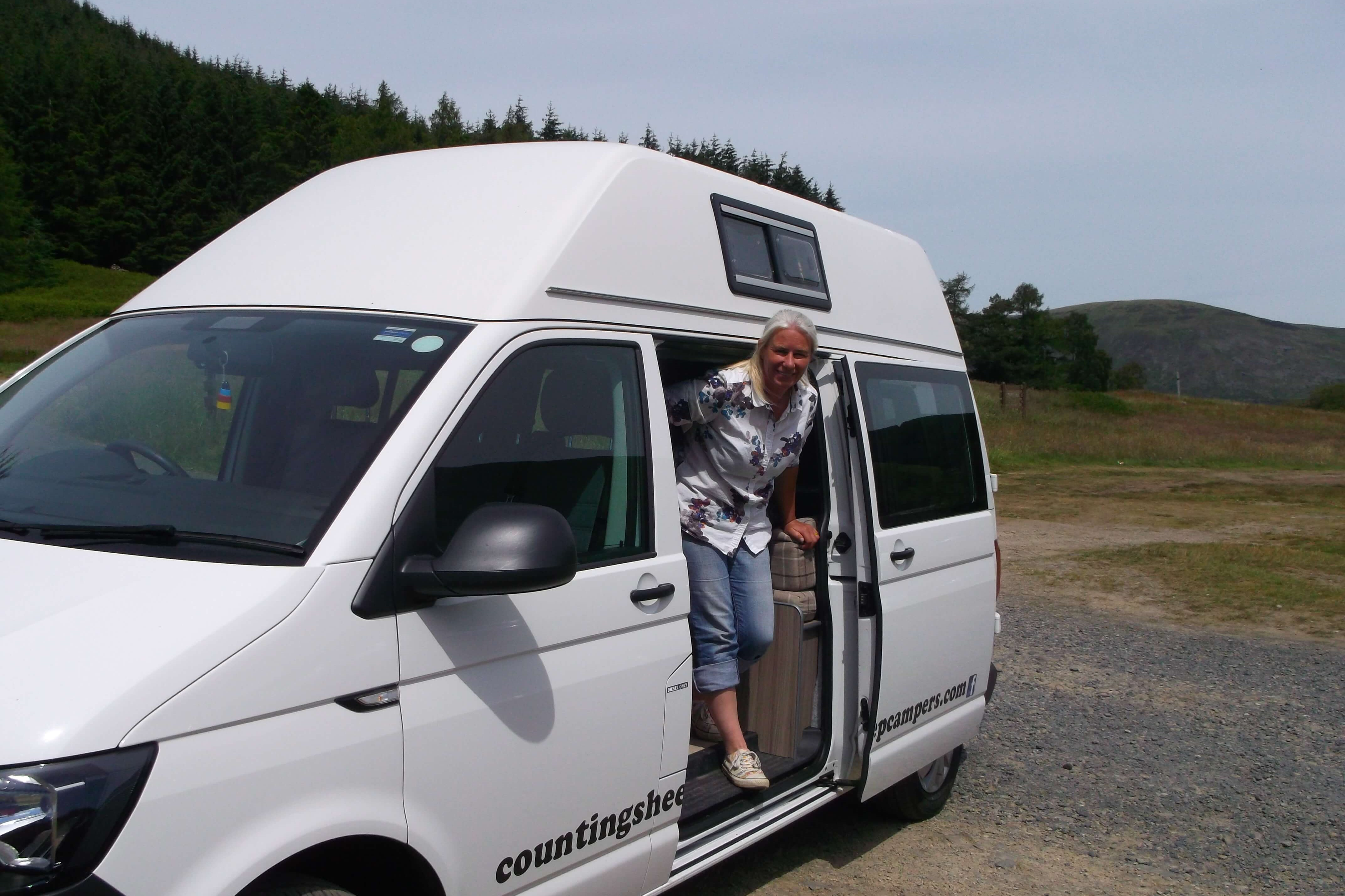 campervan at st marys loch
