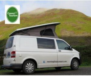 green campervan
